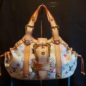 Louis Vuitton Theda PM White Multicolor Satchel